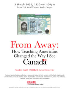 From Away: How Teaching Americans Changed the Way I See Canada @ 749 Kaneff Tower